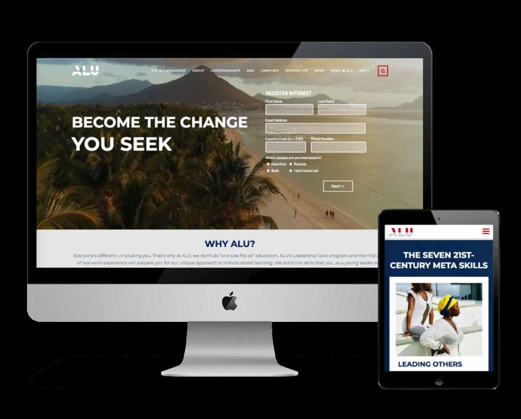 ALU Education Website Design and Marketing Case Study